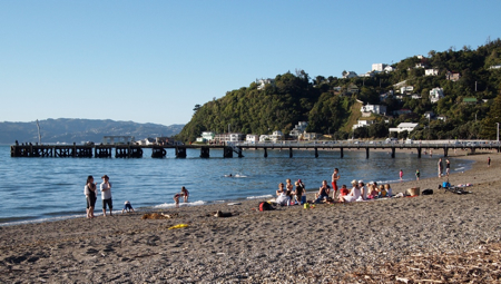 Days Bay beach.